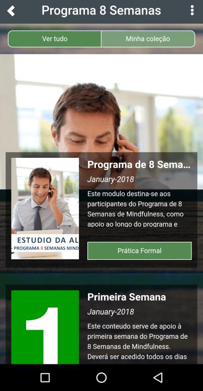 App Mindfulness Estudio P8SM